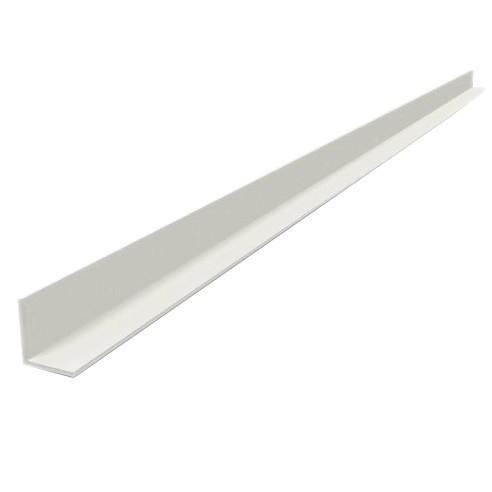Профиль угловой ПВХ ТД Столичный 20х20 мм белый 3000 мм
