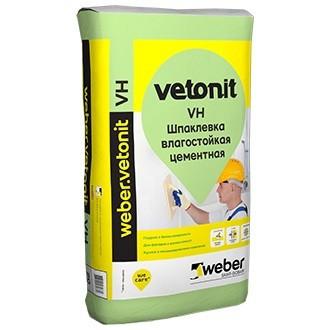 Шпатлевка финишная цементная Weber.Vetonit VH влагостойкая белая 20 кг