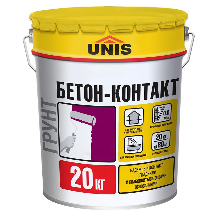 Грунтовка Unis Бетон-Контакт 20 кг