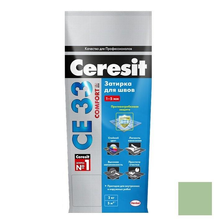 Затирка цементная для узких швов Ceresit СЕ33 Comfort Киви 2 кг