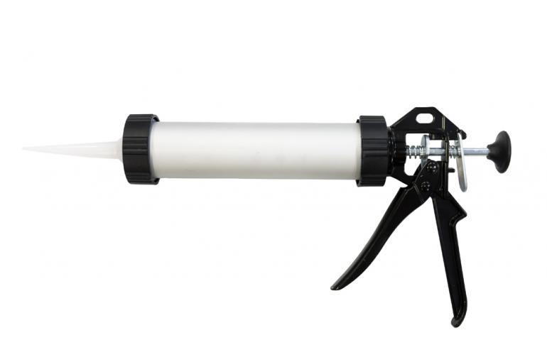 Пистолет для герметика 400мл закрытый алюминиевый корпус