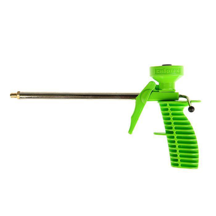 Пистолет для монтажной пены пластиковый корпус Сибртех