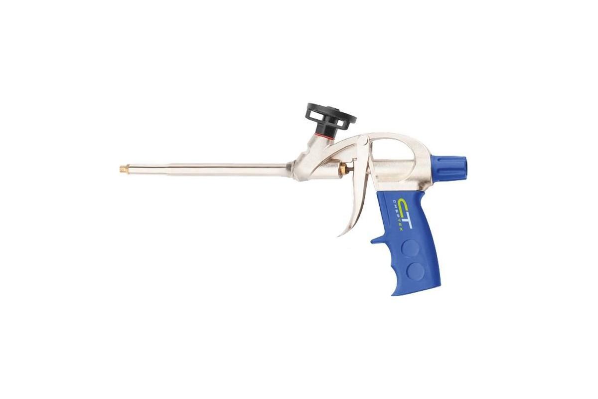 Пистолет для монтажной пены алюминиевый корпус усиленный Сибртех