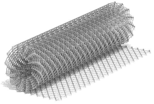 Сетка рабица 50х50мм 2х10м, рулон