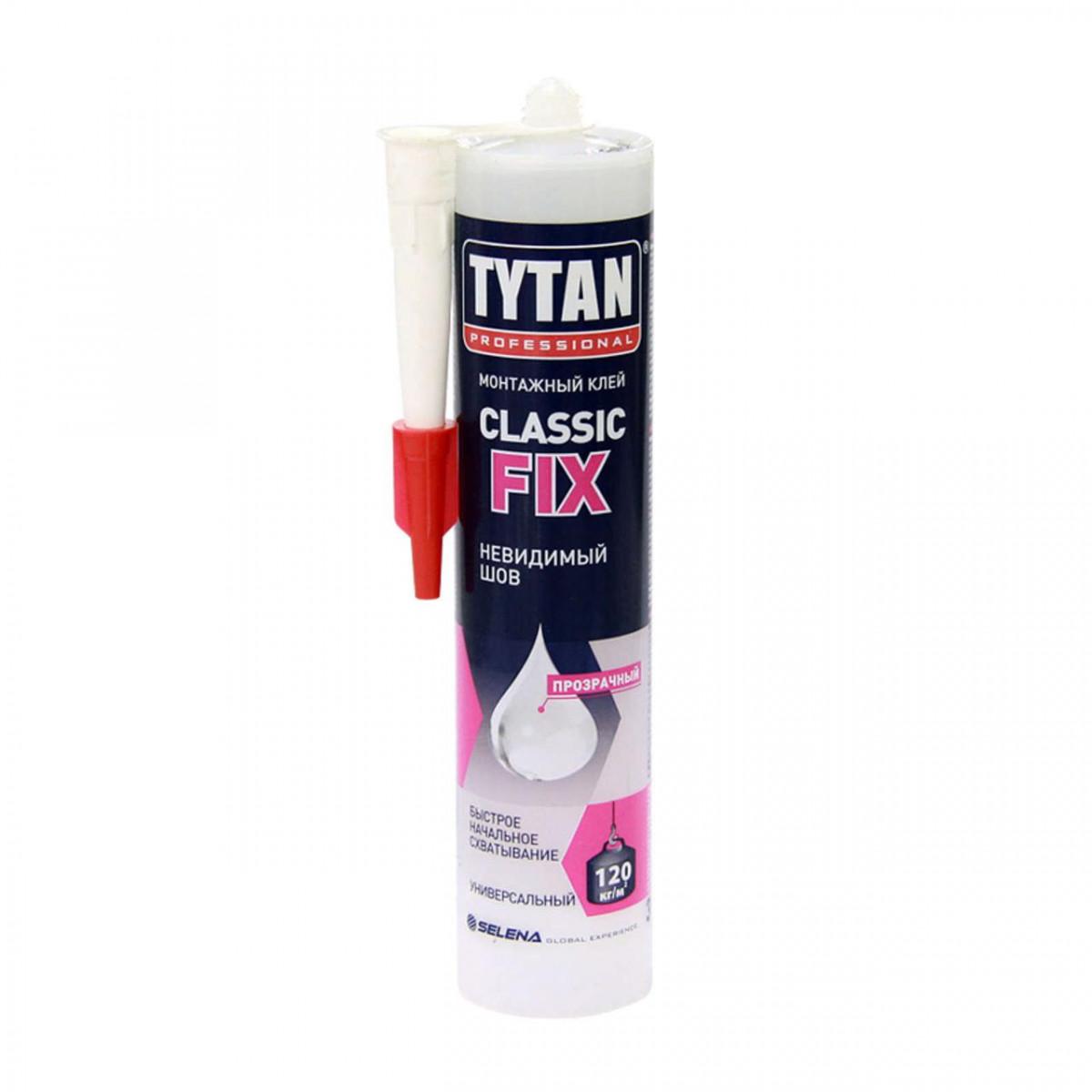 Жидкие гвозди прозрачные TYTAN Professional Classik Fix, шт