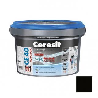 Затирка цементная для швов Ceresit CE 40 Aquastatic Графит 2 кг