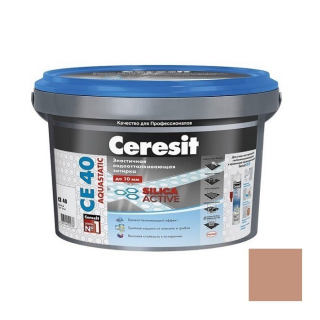 Затирка цементная для швов Ceresit CE 40 Aquastatic светло-коричневая 2 кг
