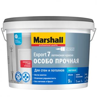 Краска для стен и потолков Marshall Export-7 матовая 9 л