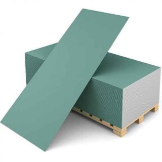 Гипсокартон (ГКЛВ) Кнауф влагостойкий 3000х1200х12,5 мм
