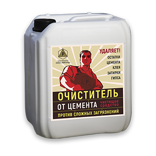 Очиститель от цемента «РЕКОРД ОЦ-1», 5л